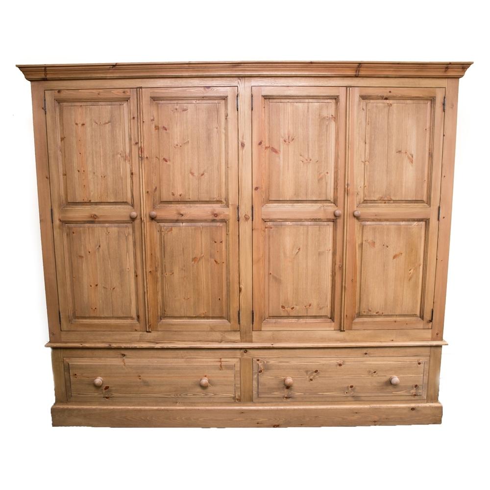 Trendy Quad Door Wardrobe With Double Pine Wardrobes (View 15 of 15)