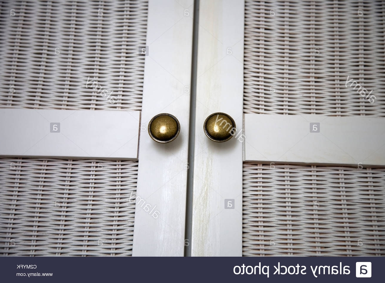 Trendy Rattan Wardrobe Door And Handles Stock Photo: 36110695 – Alamy In Rattan Wardrobes (View 14 of 15)