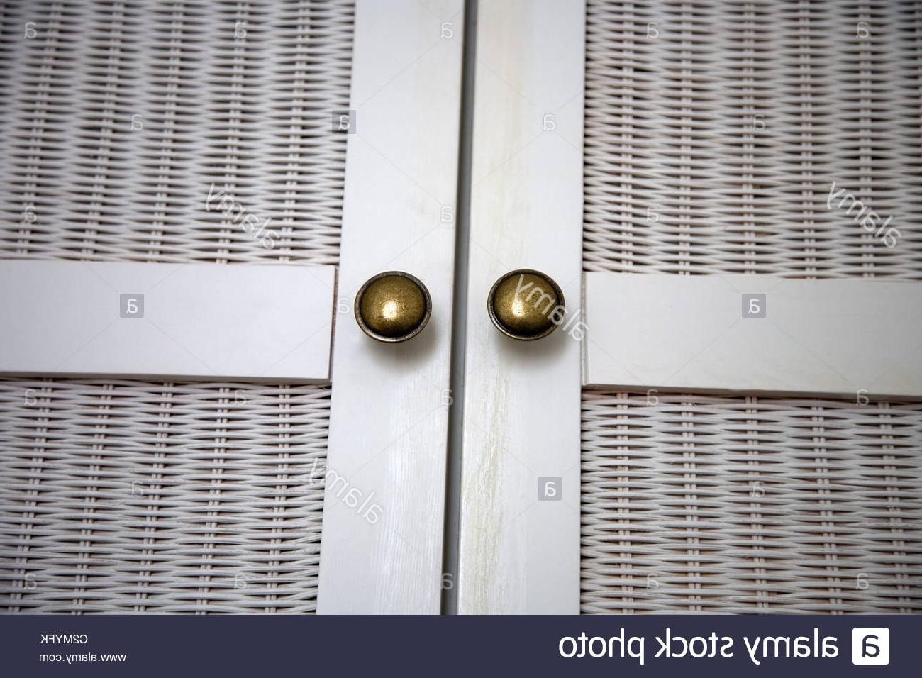 Trendy Rattan Wardrobe Door And Handles Stock Photo: 36110695 – Alamy In Rattan Wardrobes (View 7 of 15)
