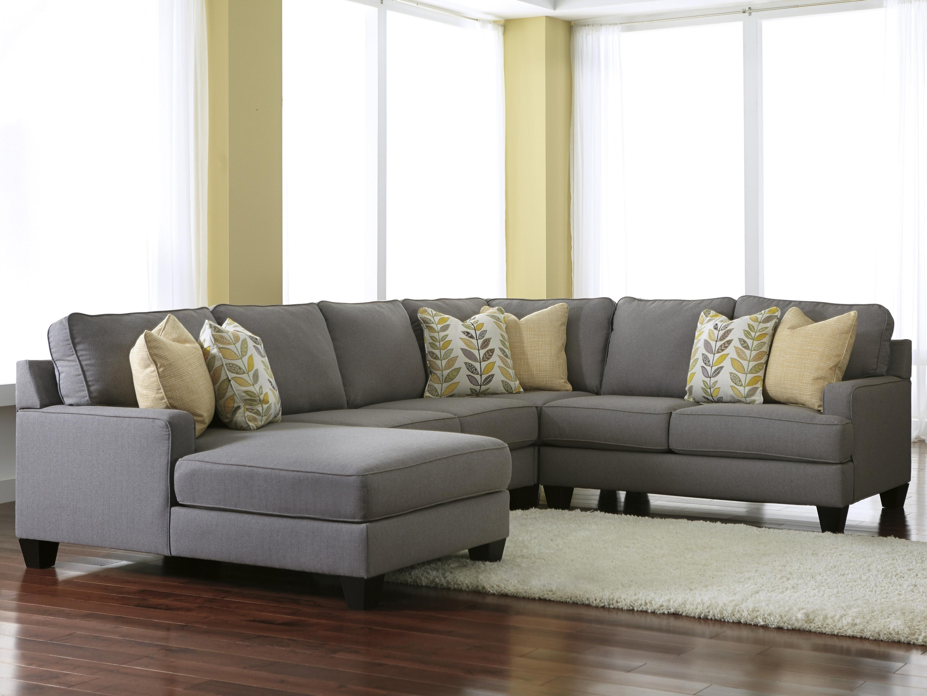 Trendy Signature Designashley Chamberly – Alloy Modern 4 Piece In 3 Piece Sectional Sofas With Chaise (View 12 of 15)