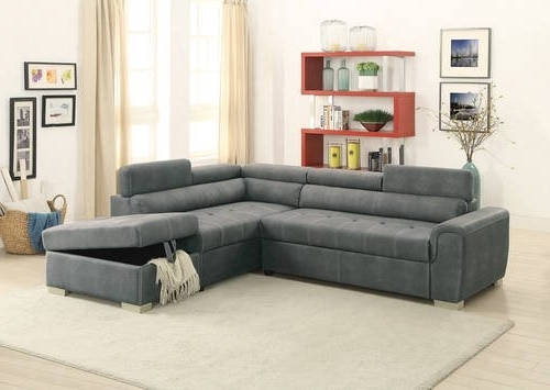 Trendy Slate Gray Convertible Sectional Sofa Setpoundex With Regard To Convertible Sectional Sofas (View 10 of 10)