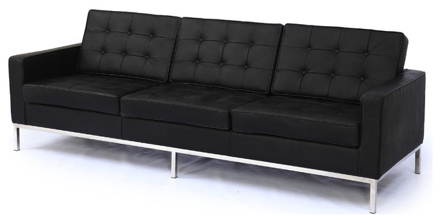 Trendy Sofa : Charming Modern Black Sofa Fabulous Leather With Kardiel Intended For Florence Medium Sofas (View 10 of 10)