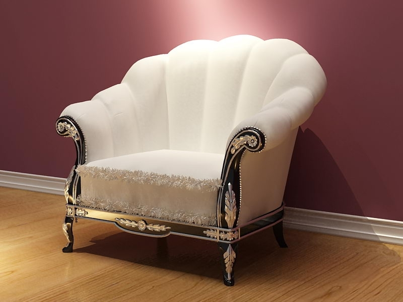 Trendy Sofa : Marvelous Classic Single Sofa Classic Single Sofa Classic With Regard To White Sofa Chairs (View 7 of 10)