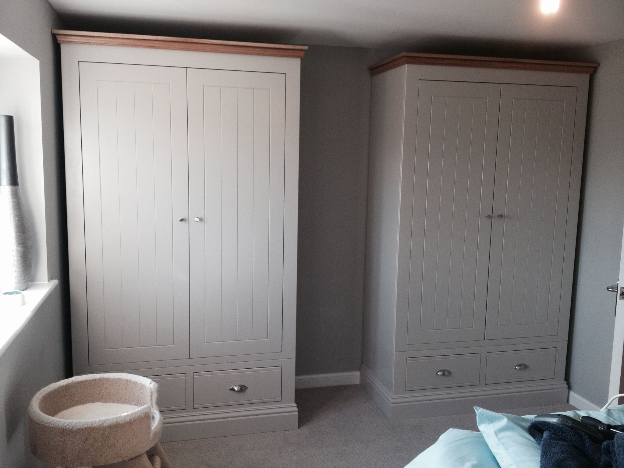 Trendy Tall Wardrobes Inside Two Of Our New England Extra Tall Wardrobes Installed Today (View 2 of 15)
