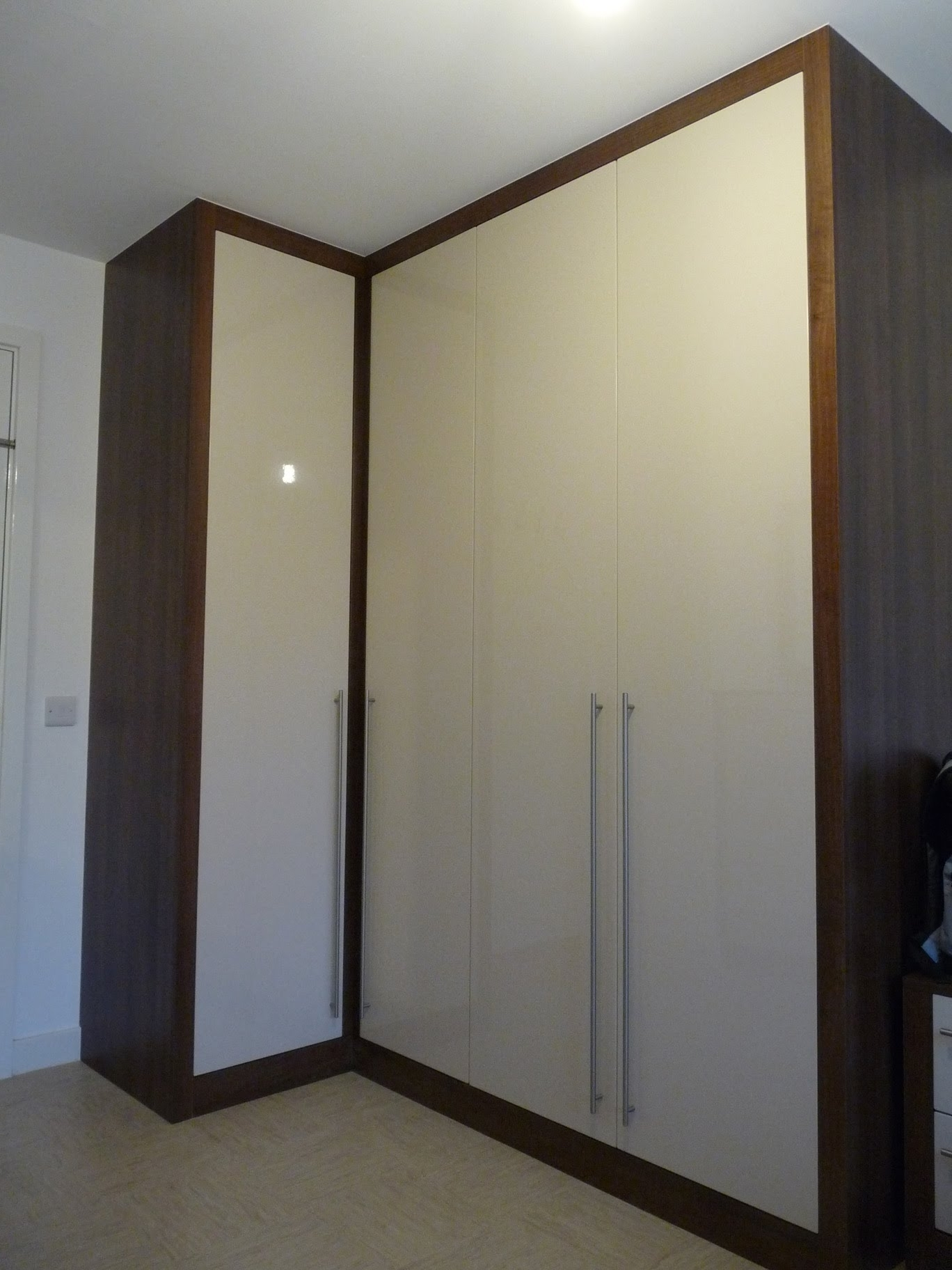 Trendy Walnut Wardrobes Within Bespoke Fitted Wardrobes Chunky Frame (View 10 of 15)