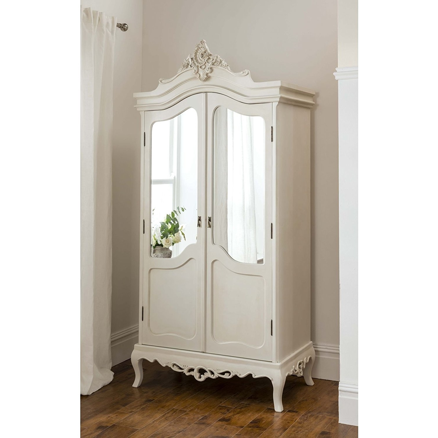 Trendy White French Style Wardrobes Inside Annaelle Antique French Wardrobe: Amazon.co (View 8 of 15)