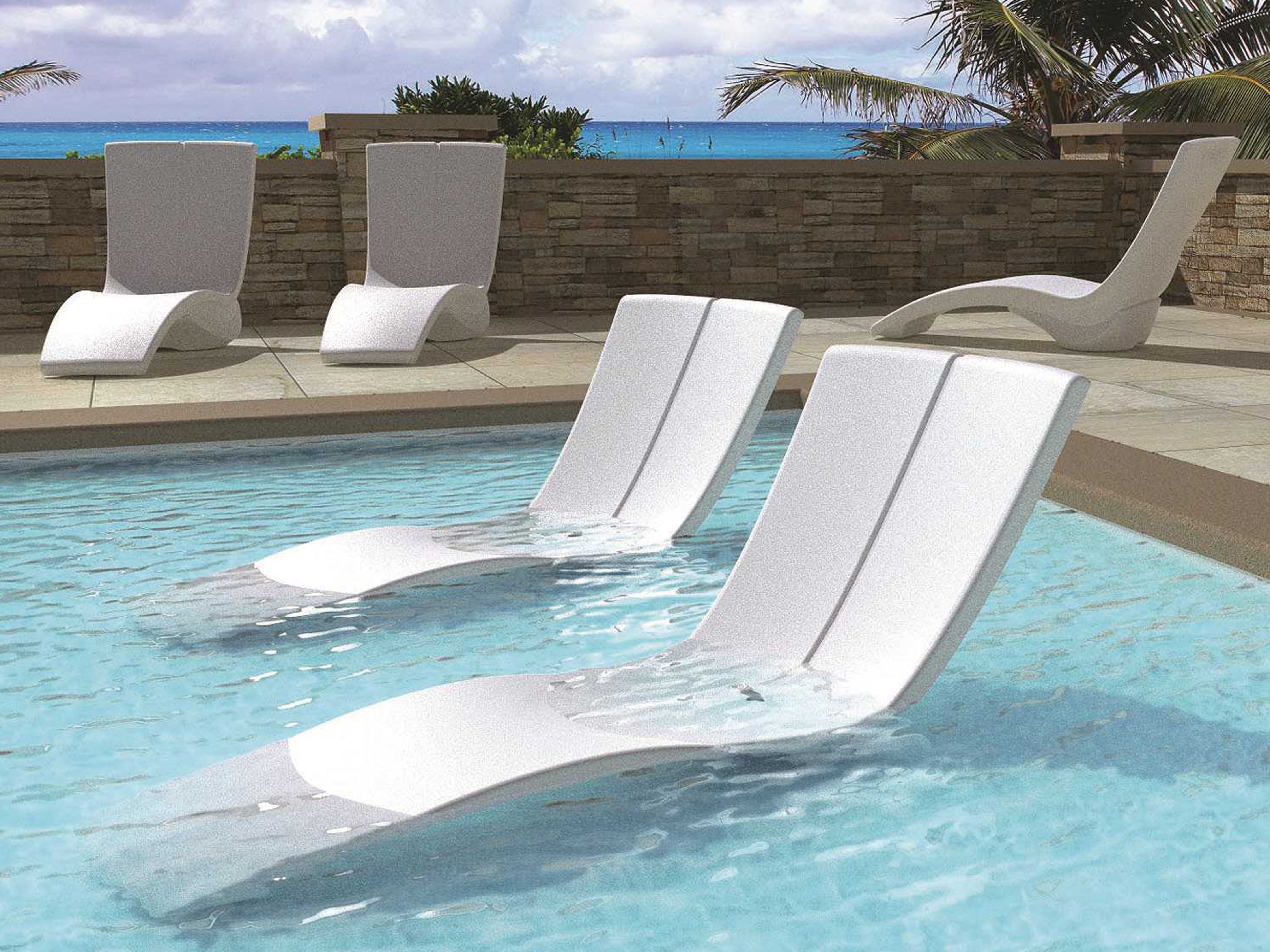 Tropitone Chaise Lounges Within Most Up To Date Tropitone Curve Recycled Plastic Chaise Lounge Set (View 2 of 15)