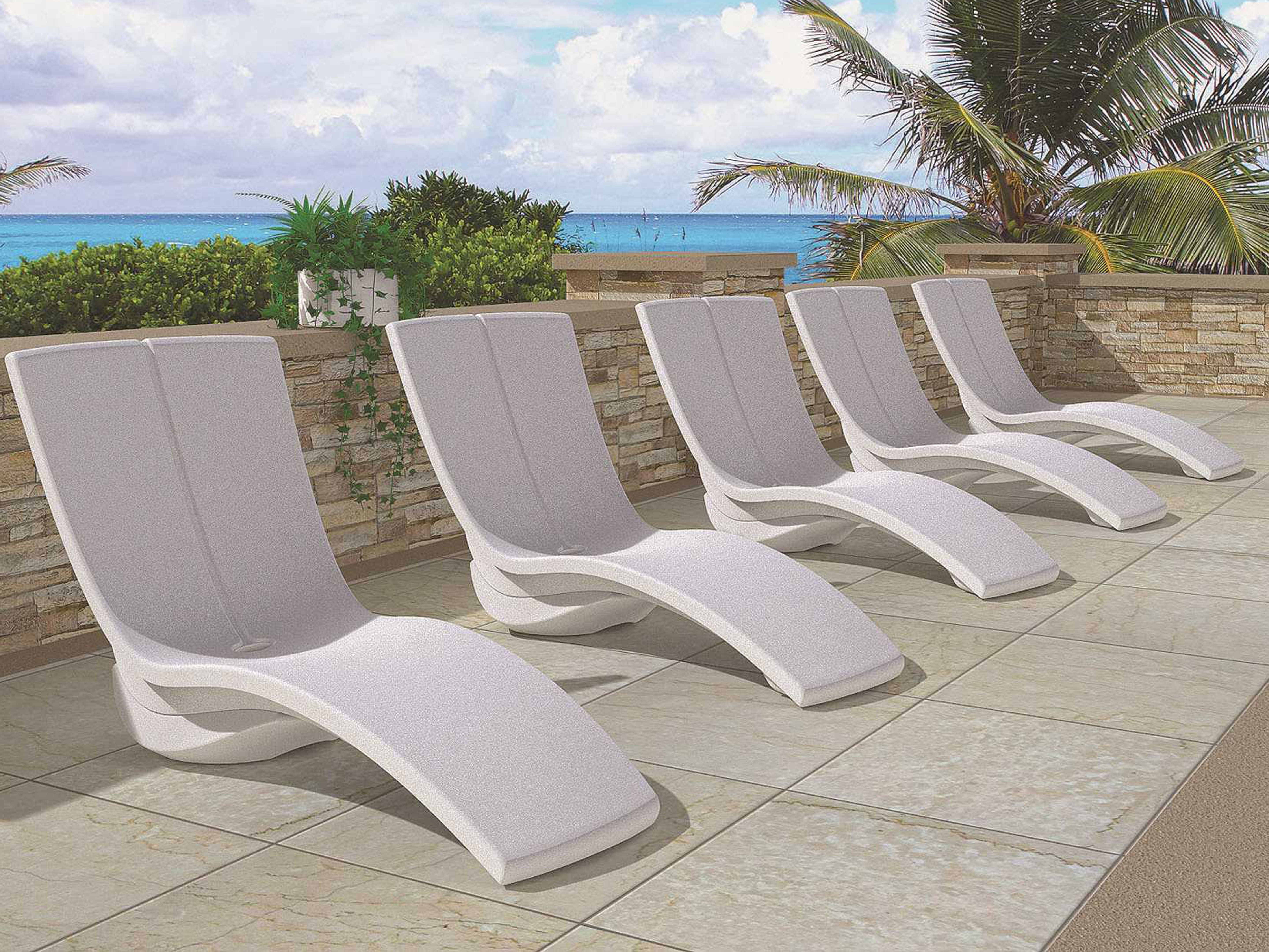 Tropitone Curve Recycled Plastic Rotoform3 Chaise Lounge With In Famous Tropitone Chaise Lounges (View 9 of 15)