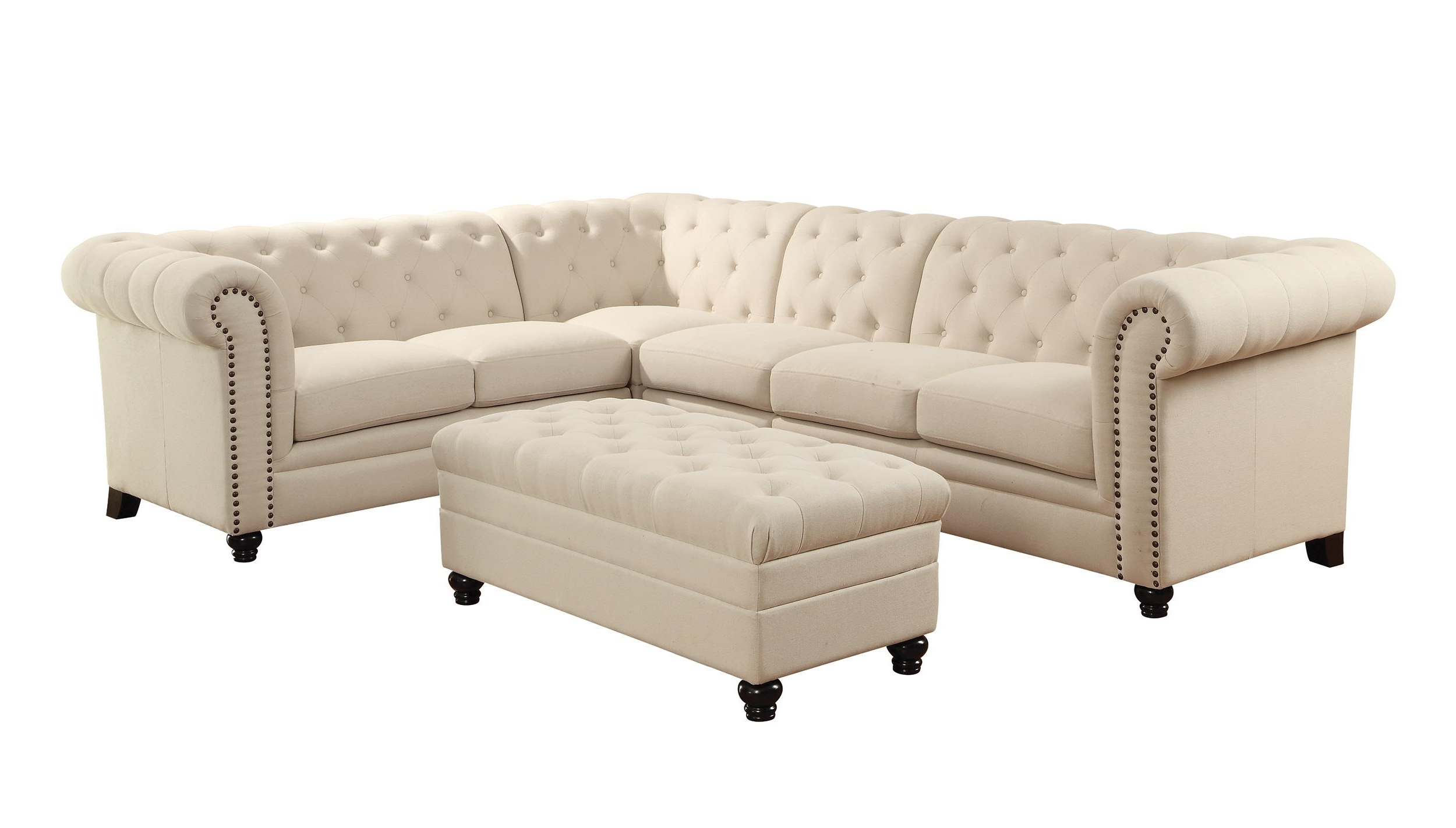Tufted Sectional For Tufted Sectionals With Chaise (View 14 of 15)