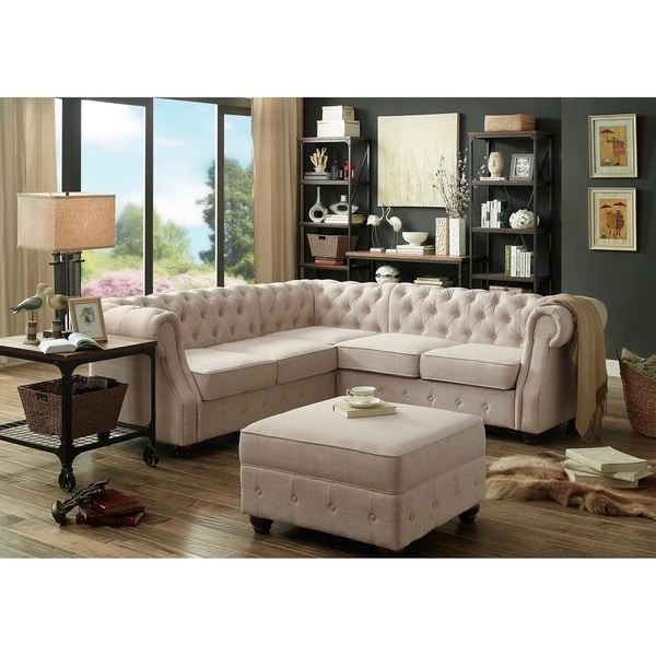 Tufted Sectional Sofas Within Current Moser Bay Furniture Olivia Tufted Sectional Sofa – Free Shipping (View 7 of 10)