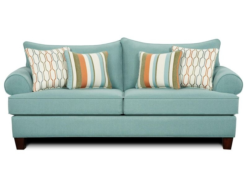 Turquoise Sofa, Modern (View 5 of 10)