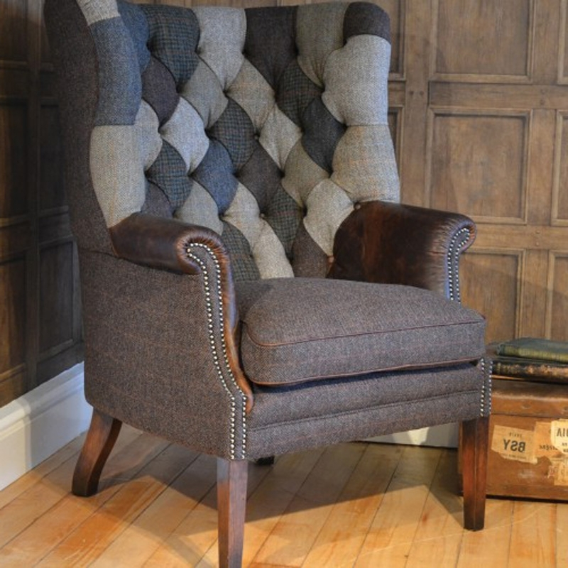 Tweed Fabric Sofas Regarding Most Up To Date Tetrad Upholstery Mackensie Harris Tweed Chair Patchwork (View 10 of 10)