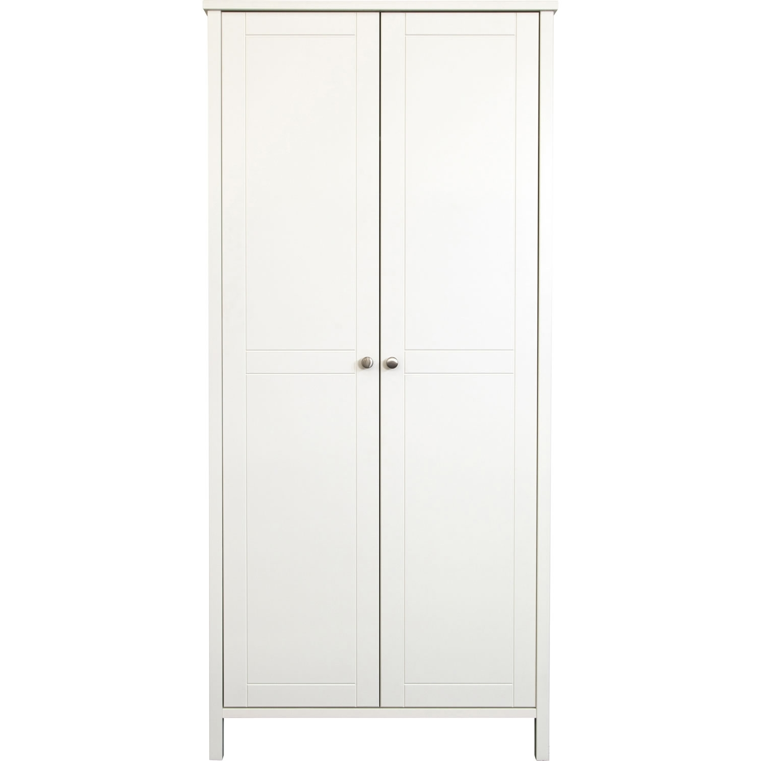 Two Door White Wardrobes For Most Up To Date Stockholm 3 Door 2 Drawer Wardrobe White – Simply Furniture (View 4 of 15)