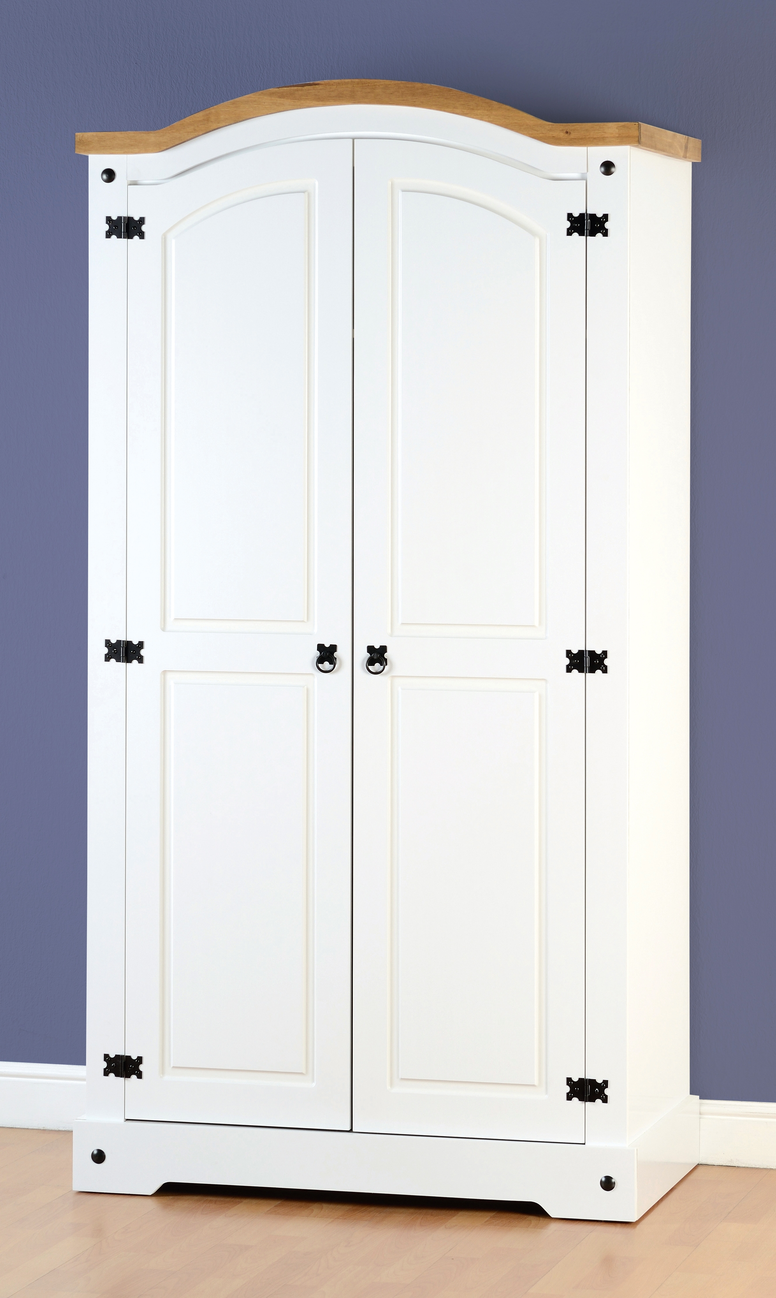 Two Door White Wardrobes Intended For Widely Used Corona Bedroom Set In White (View 15 of 15)