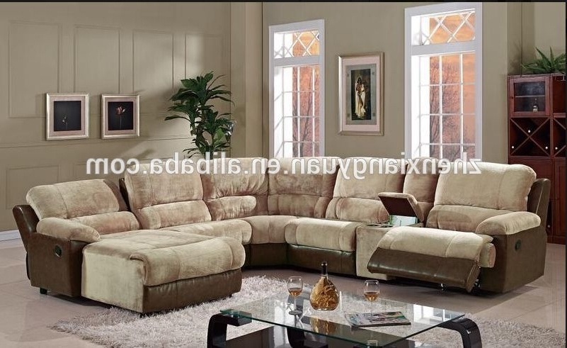 U Shape Leather Sectional Recliner Sofa With Chaise – Buy Italy In Well Known Reclining U Shaped Sectionals (View 8 of 10)