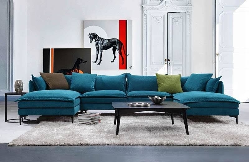 U Shaped Sofa – Houston U Shaped Couch Living Room Transitional Within Most Current Blue U Shaped Sectionals (View 9 of 10)
