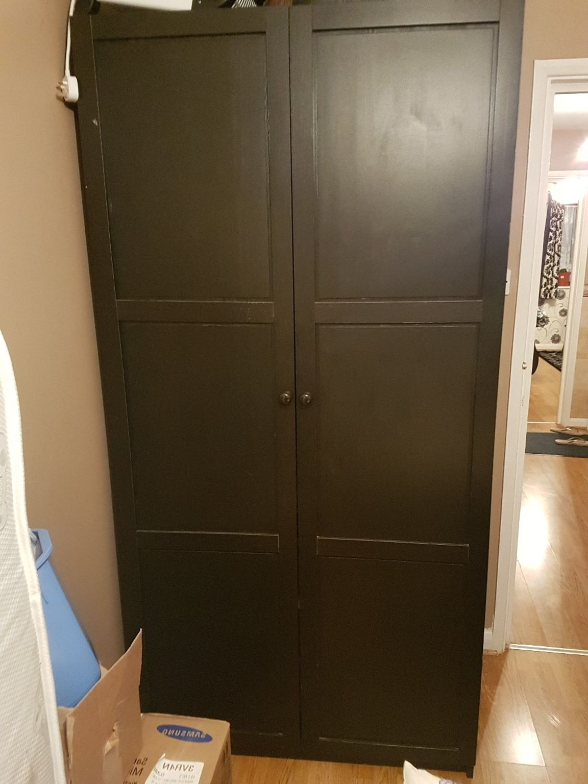 Used Dark Brown Wardrobe In E7 London For £ (View 12 of 15)