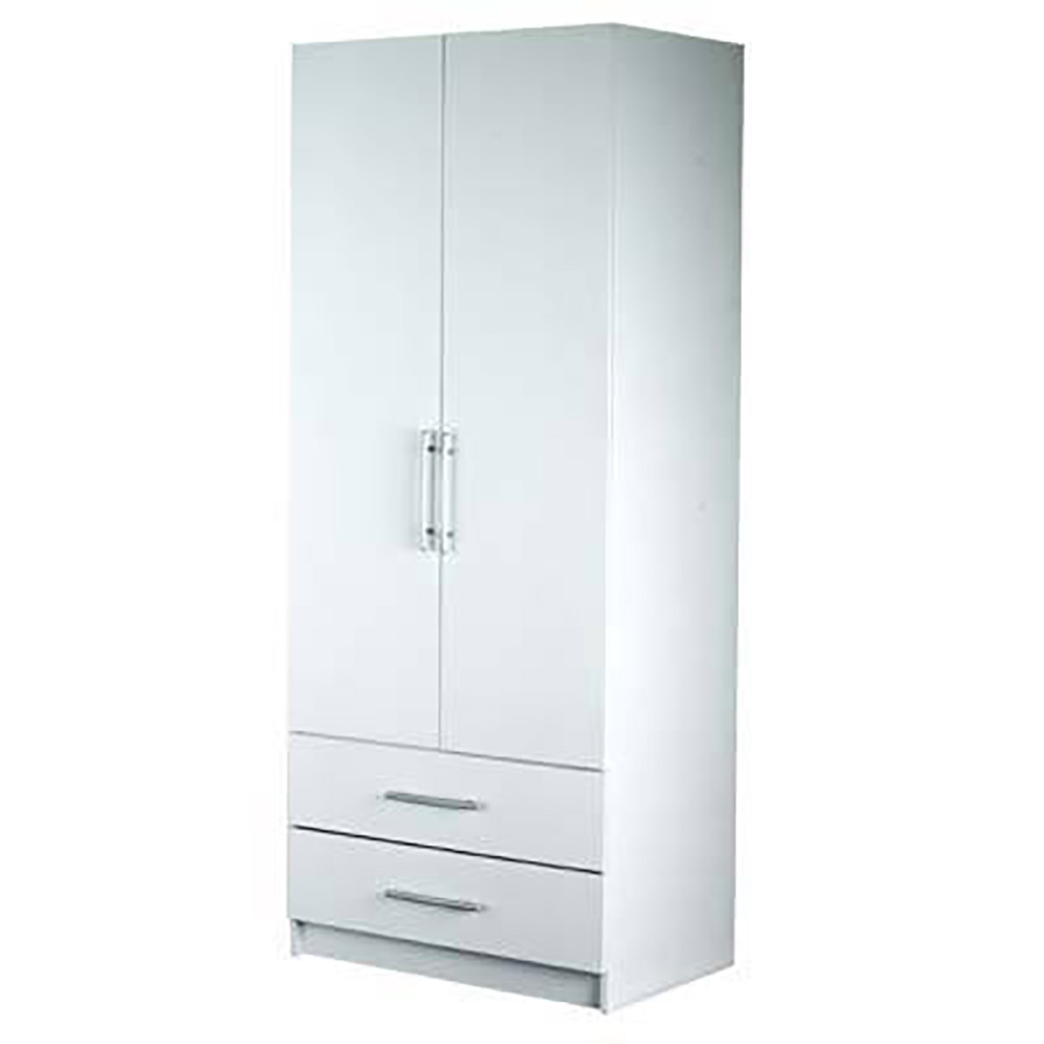 Valencia Two Door Drawer Wardrobe For 2017 Two Door White Wardrobes (View 11 of 15)