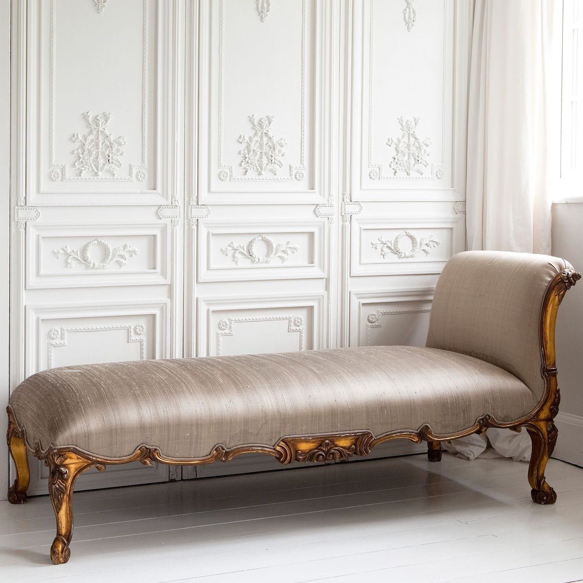 Versailles Gold Chaise Loungethe French Bedroom Company Pertaining To Recent Gold Chaise Lounge Chairs (View 14 of 15)