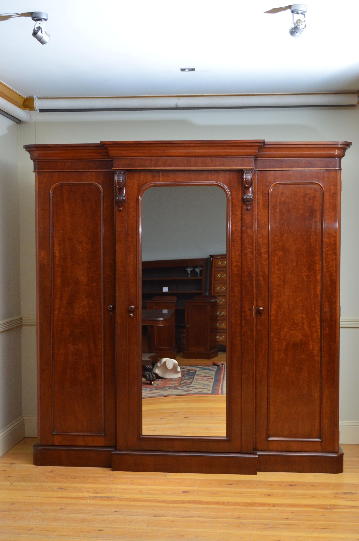 Victorian Mahogany Wardrobe (C (View 11 of 15)