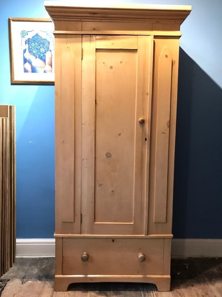 Victorian Pine Wardrobe Single (View 15 of 15)