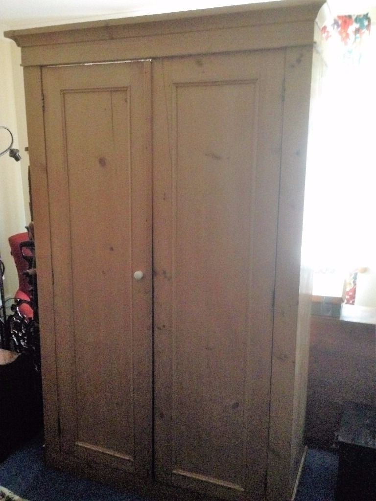 Victorian Pine Wardrobes With Most Up To Date Large Victorian Pine Cupboard, Shelves Inside (View 14 of 15)