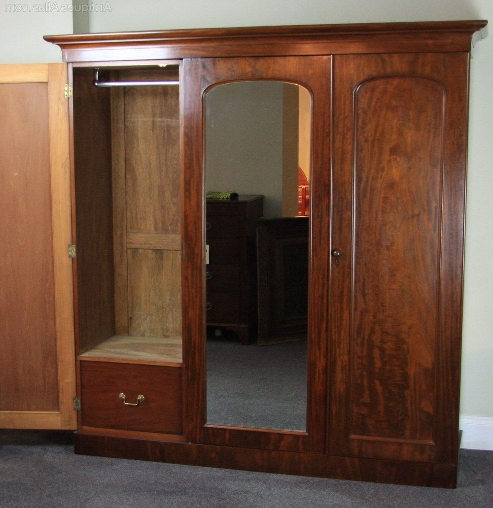 Victorian Wardrobes For Sale With Famous Victorian Mahogany Three Door Wardrobe – Antiques Atlas (Gallery 8 of 15)