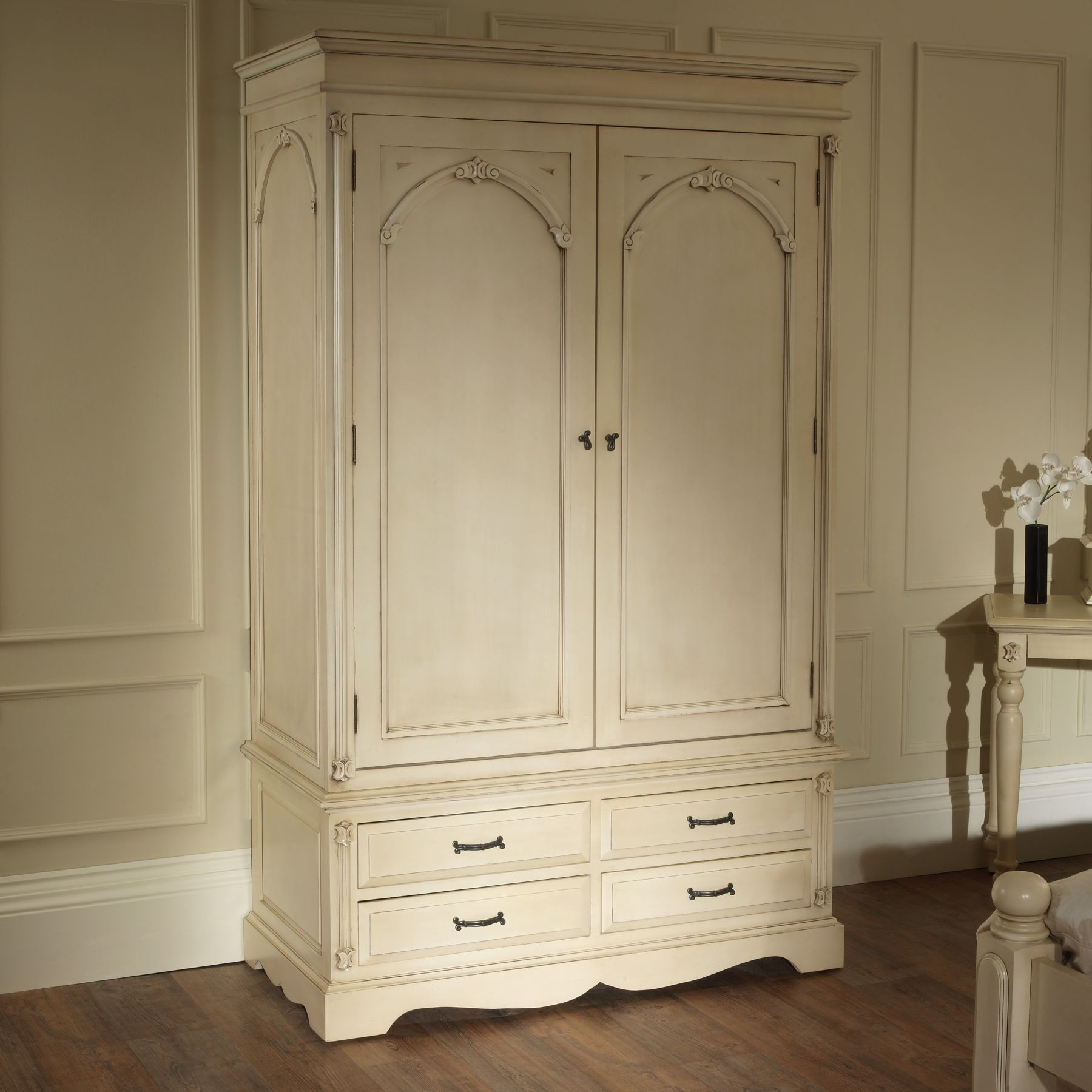 Victorian Wardrobes Within Newest Victorian Antique French Wardrobe Works Well Alongside Our Shabby (View 14 of 15)