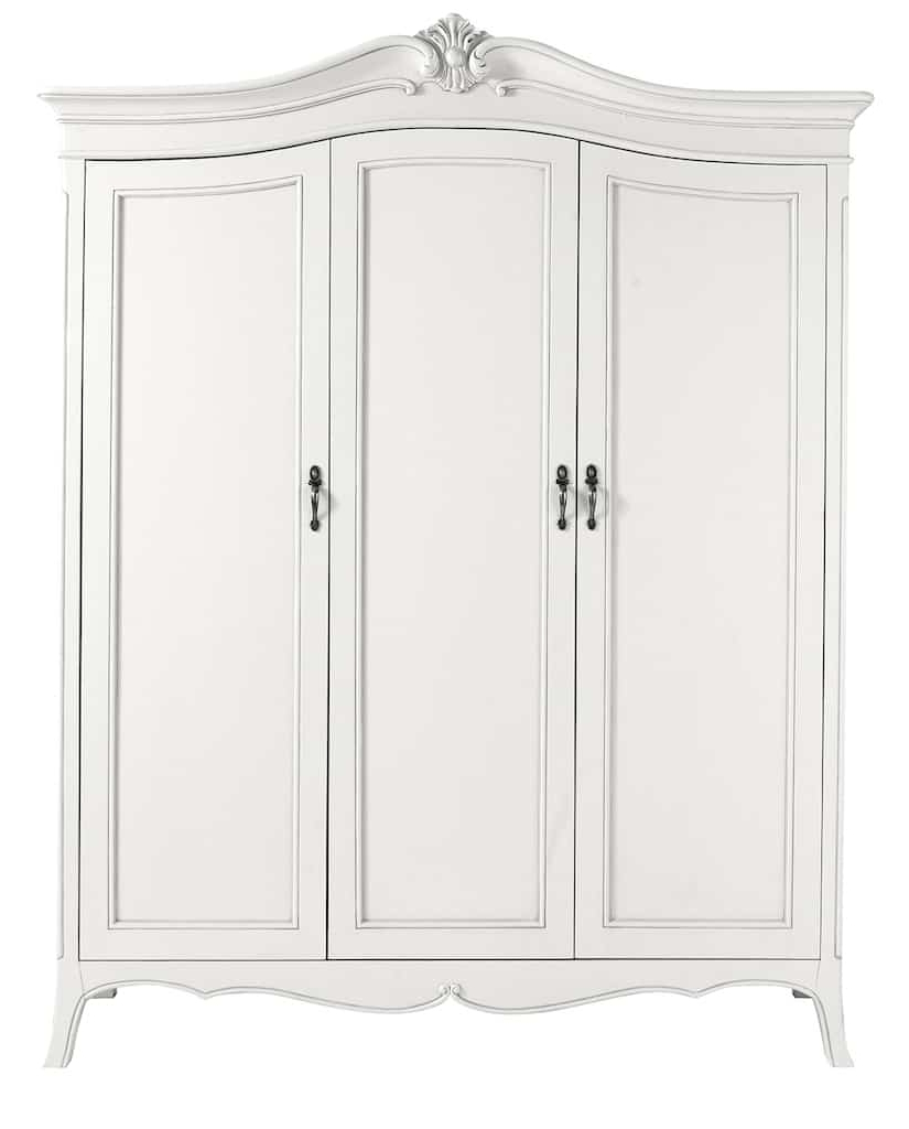 Vintage French Armoire, Shabby Chic, White Within Most Popular Shabby Chic White Wardrobes (View 2 of 15)
