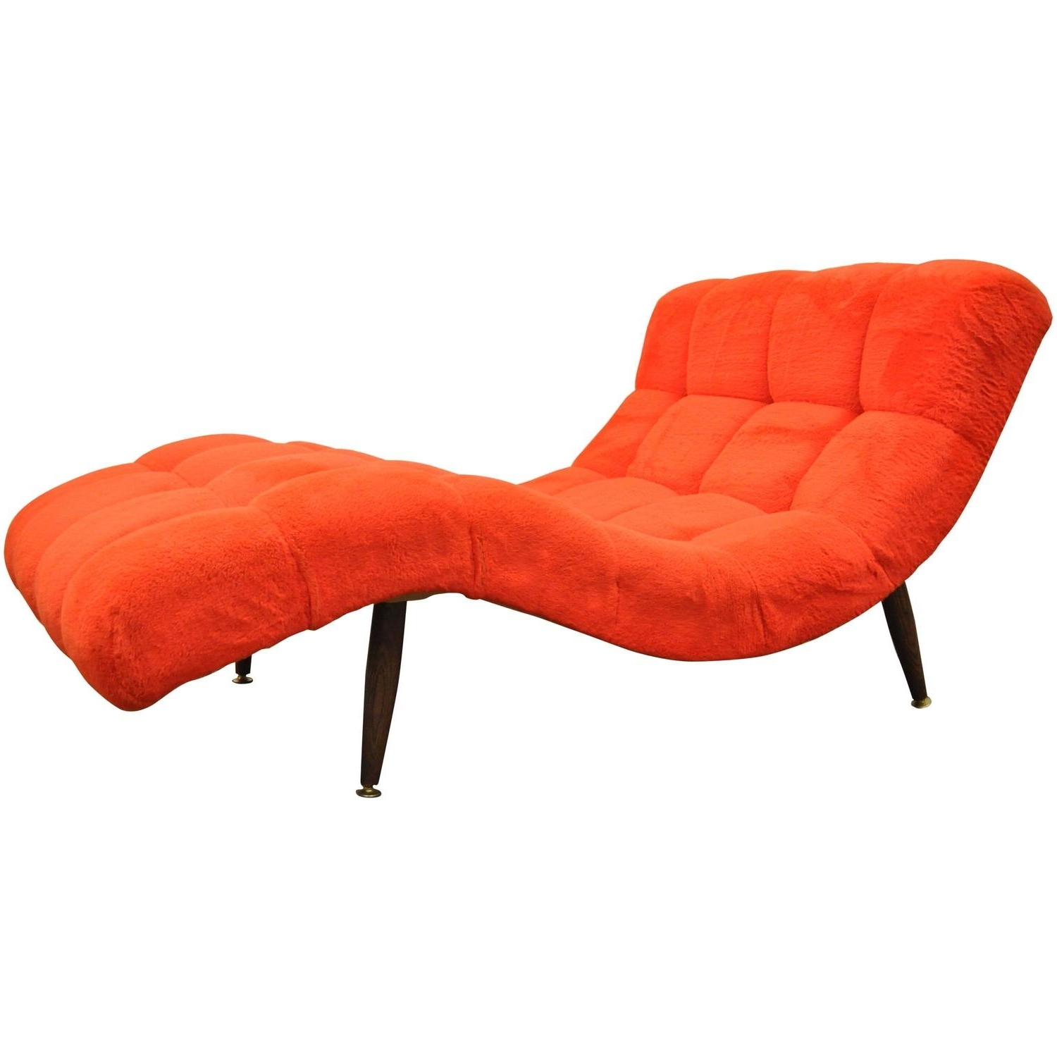 Vintage Mid Century Modern Double Wide Wave Chaise Lounge For Sale Regarding Recent Mid Century Modern Chaise Lounges (View 14 of 15)