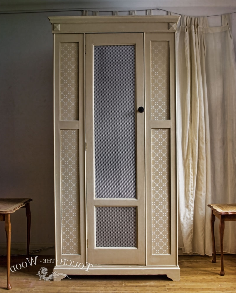 Vintage Shabby Chic Wardrobe With Mesh (No. 01) – Touch The Wood With Recent Chic Wardrobes (Gallery 14 of 15)