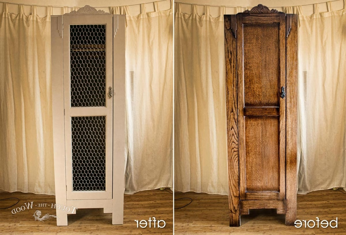 Vintage Shabby Chic Wardrobes With Recent Vintage Shabby Chic Wardrobe With Wire Mesh (No. 03) – Touch The Wood (Gallery 5 of 15)