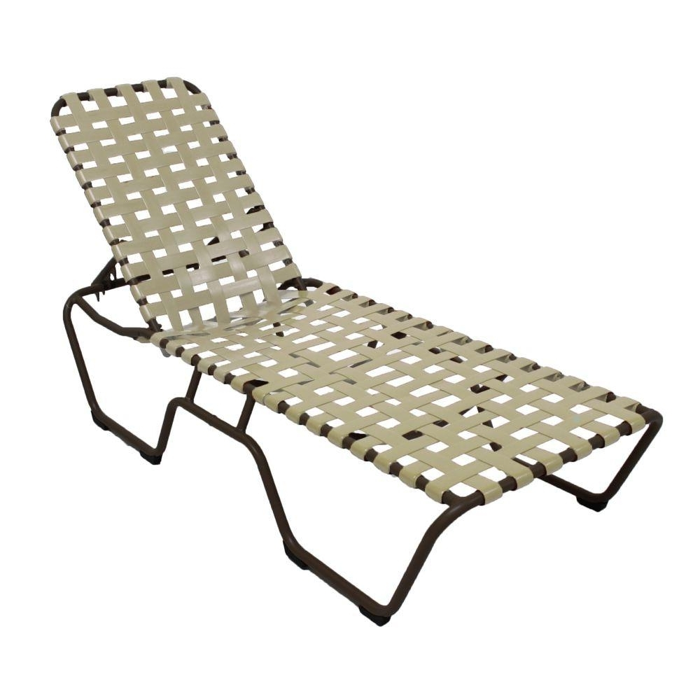 Vinyl Chaise Lounge Chairs Intended For 2017 Marco Island White Commercial Grade Aluminum Vinyl Strap Outdoor (View 9 of 15)