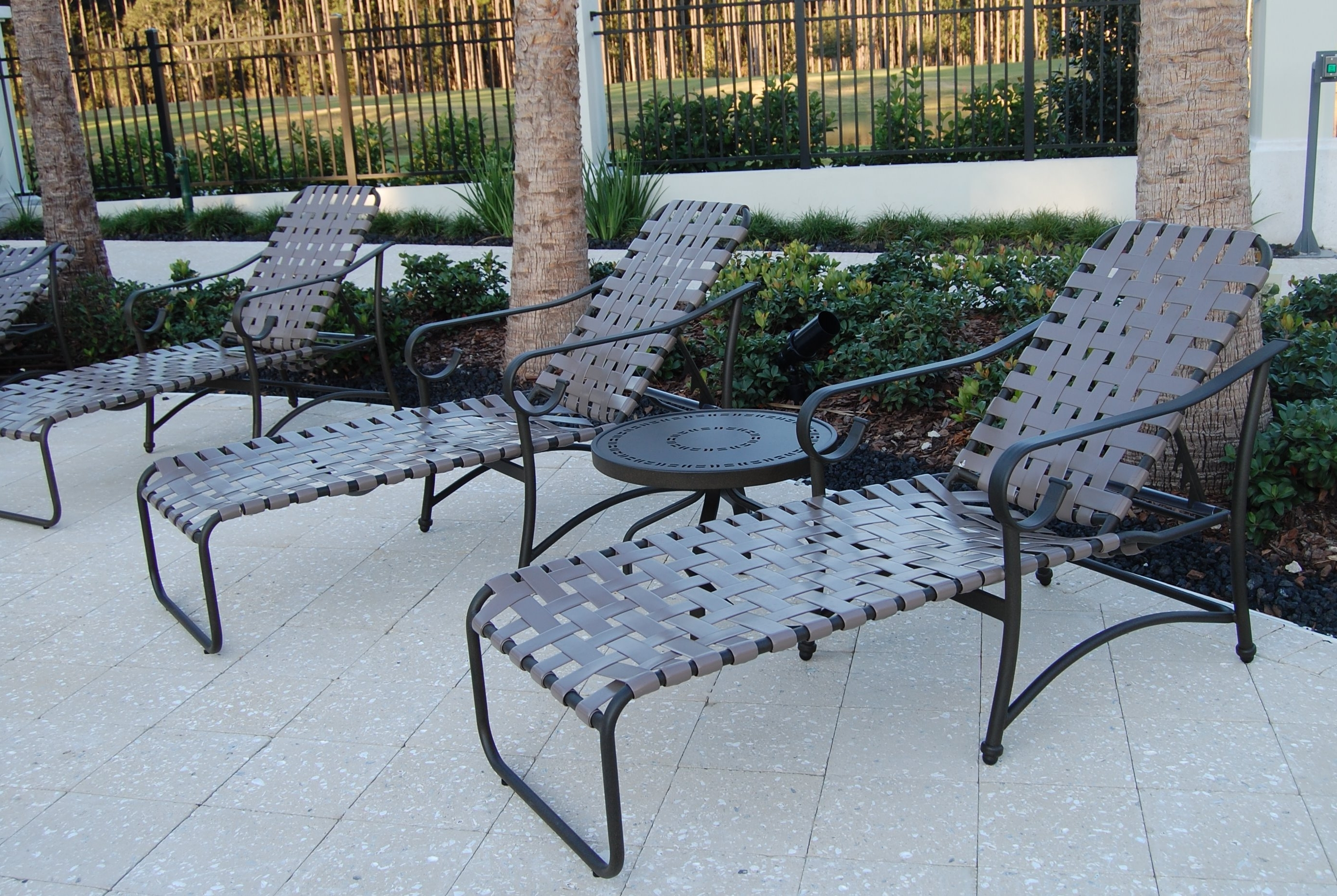 Vinyl Chaise Lounge Chairs Regarding Well Liked Patio Lounge Chair Straps (Gallery 10 of 15)