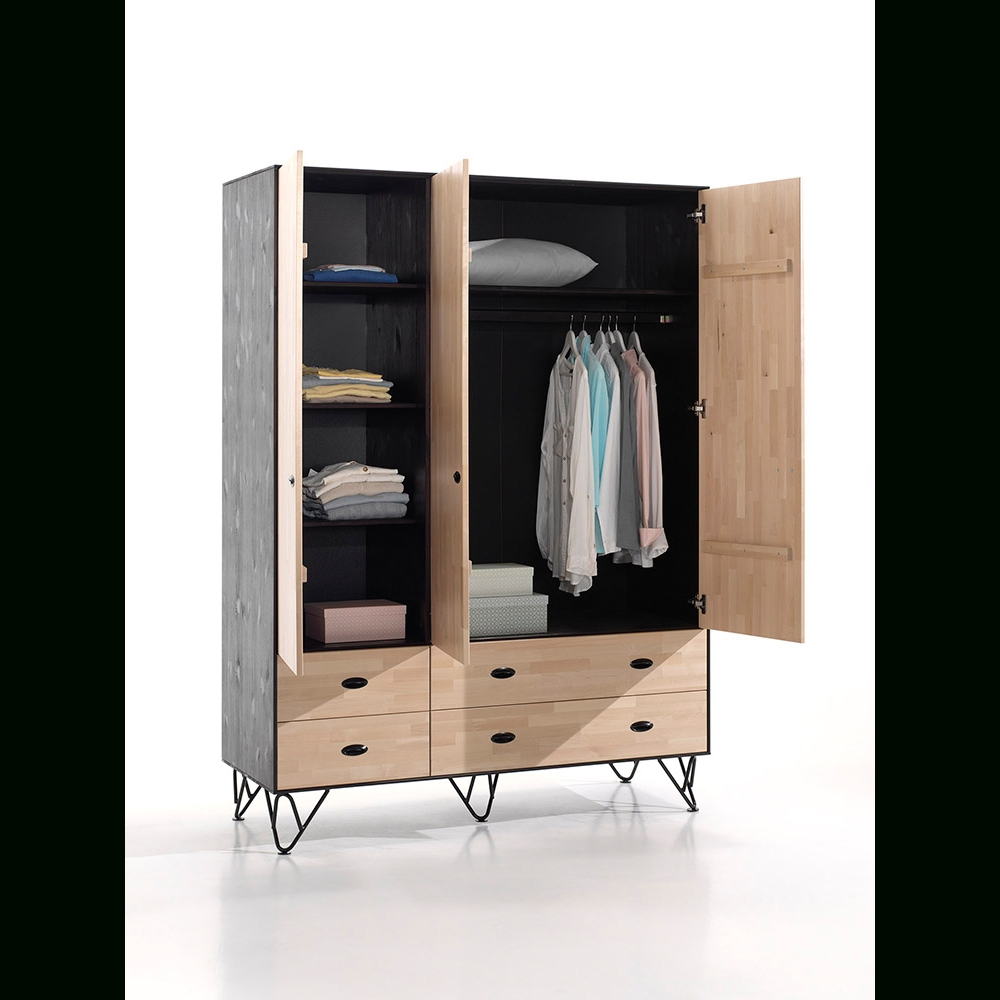 Vipack – William – 3 Door Wardrobe (Gallery 11 of 15)
