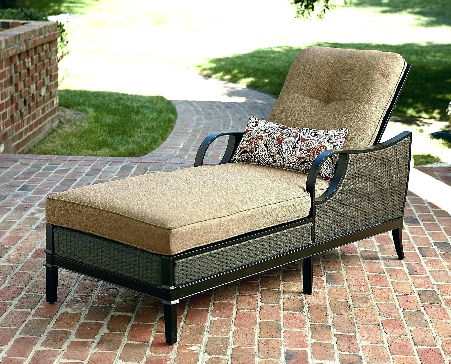 Walmart Chaise Lounge Cushions S Outdoor Double Cushion Patio With Well Liked Walmart Chaise Lounge Cushions (View 8 of 15)
