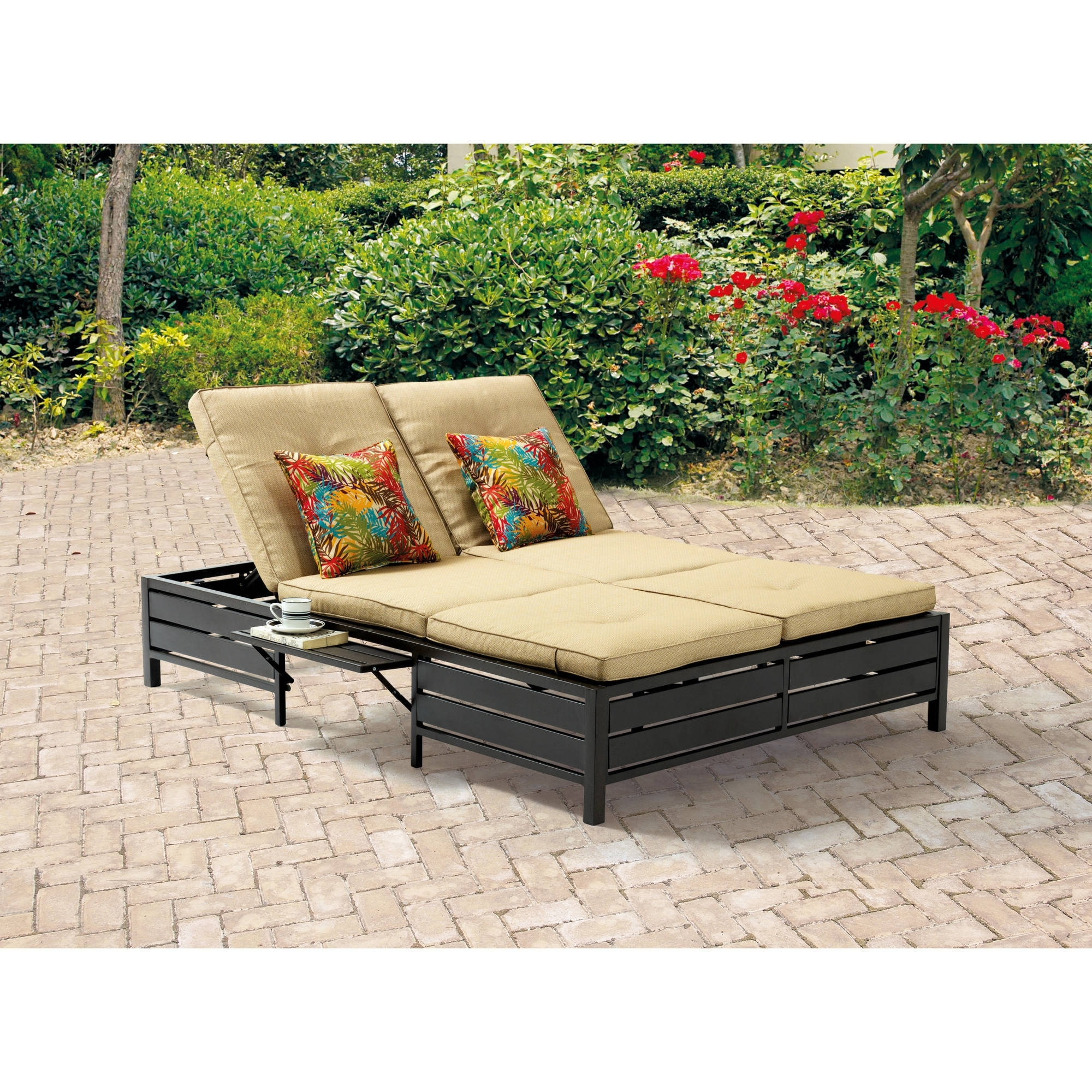 Walmart Outdoor Chaise Lounges Intended For Most Recent Outdoor Chaise Lounges – Walmart (View 12 of 15)