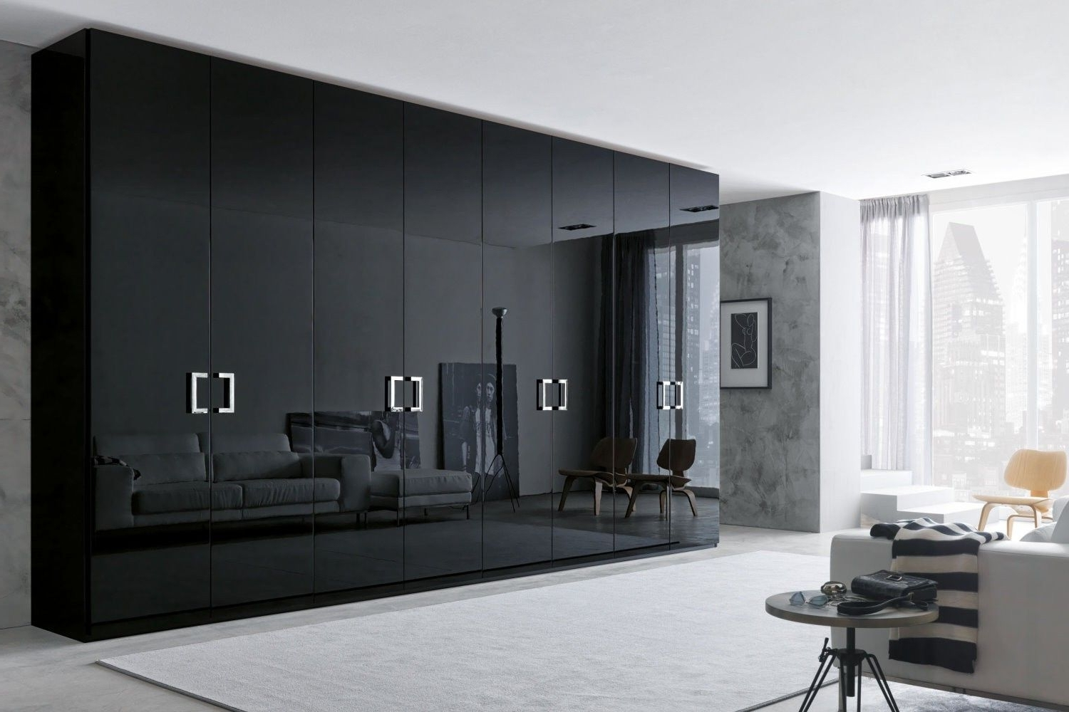 Wardrobe Design, Gray Pertaining To Large Black Wardrobes (View 13 of 15)