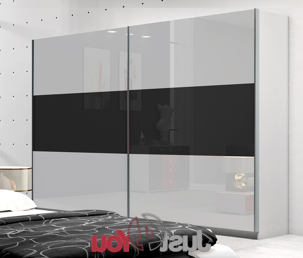 Wardrobe Riwiera – Sliding Doors With High Gloss, Various Sizes Within Favorite White High Gloss Sliding Wardrobes (View 9 of 15)