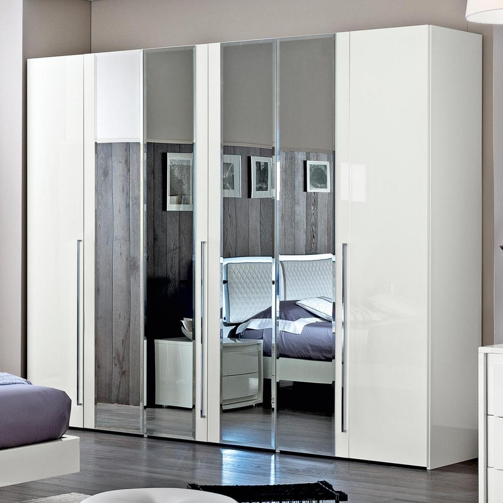 Wardrobes White Gloss In Newest Bianca White High Gloss 5 Door Wardrobe : F D Interiors Ltd (View 10 of 15)