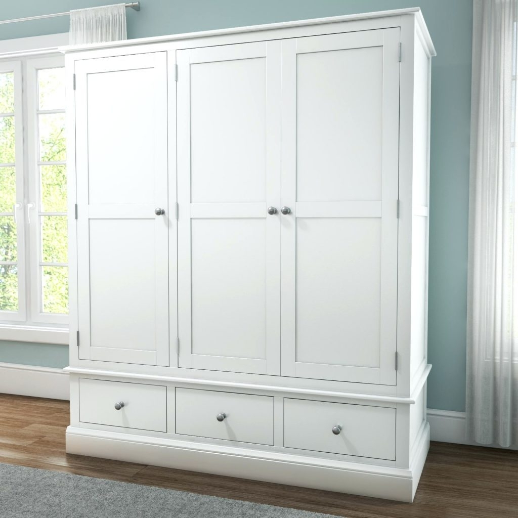 Wardrobes ~ White Pine Wardrobe With Mirror White Solid Wood For Latest White Pine Wardrobes (View 11 of 15)