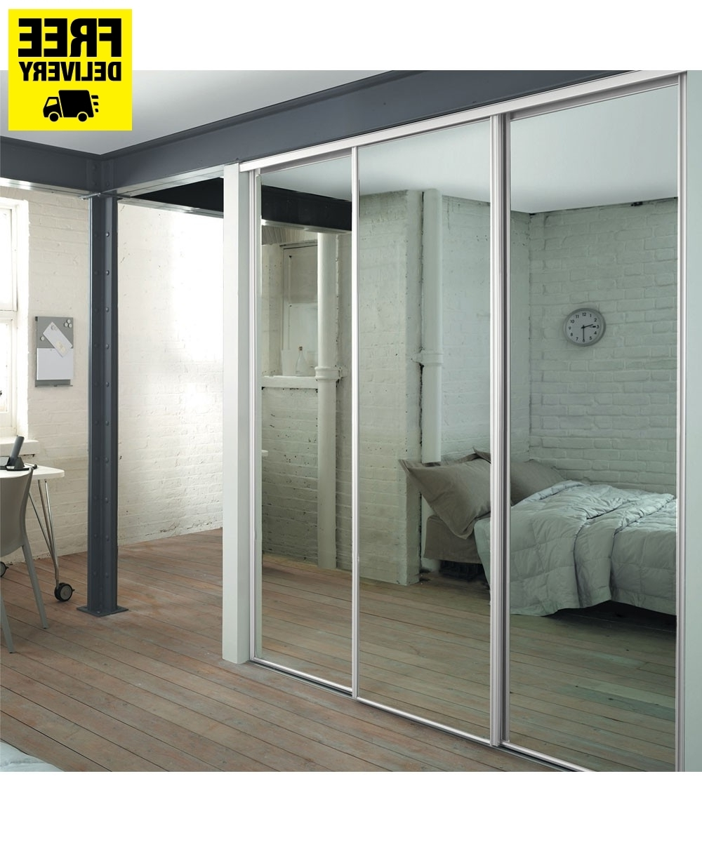 Well Known 3 White Frame Mirror Sliding Wardrobe Doors With Storage (View 13 of 15)