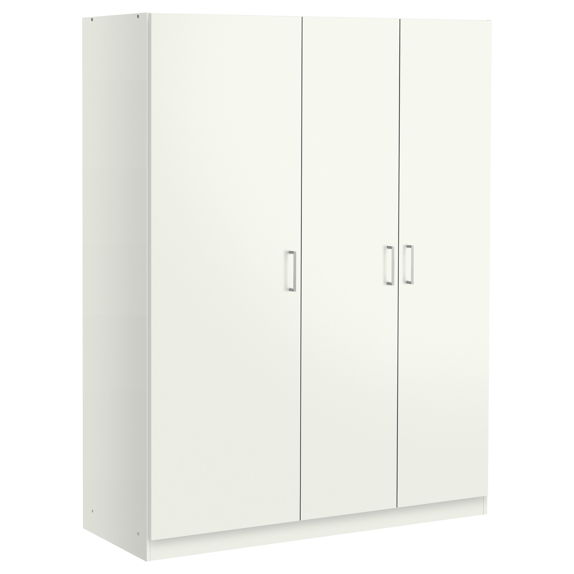 Well Known 4 Door White Wardrobes For Dombås Wardrobe White 140X181 Cm – Ikea (View 12 of 15)