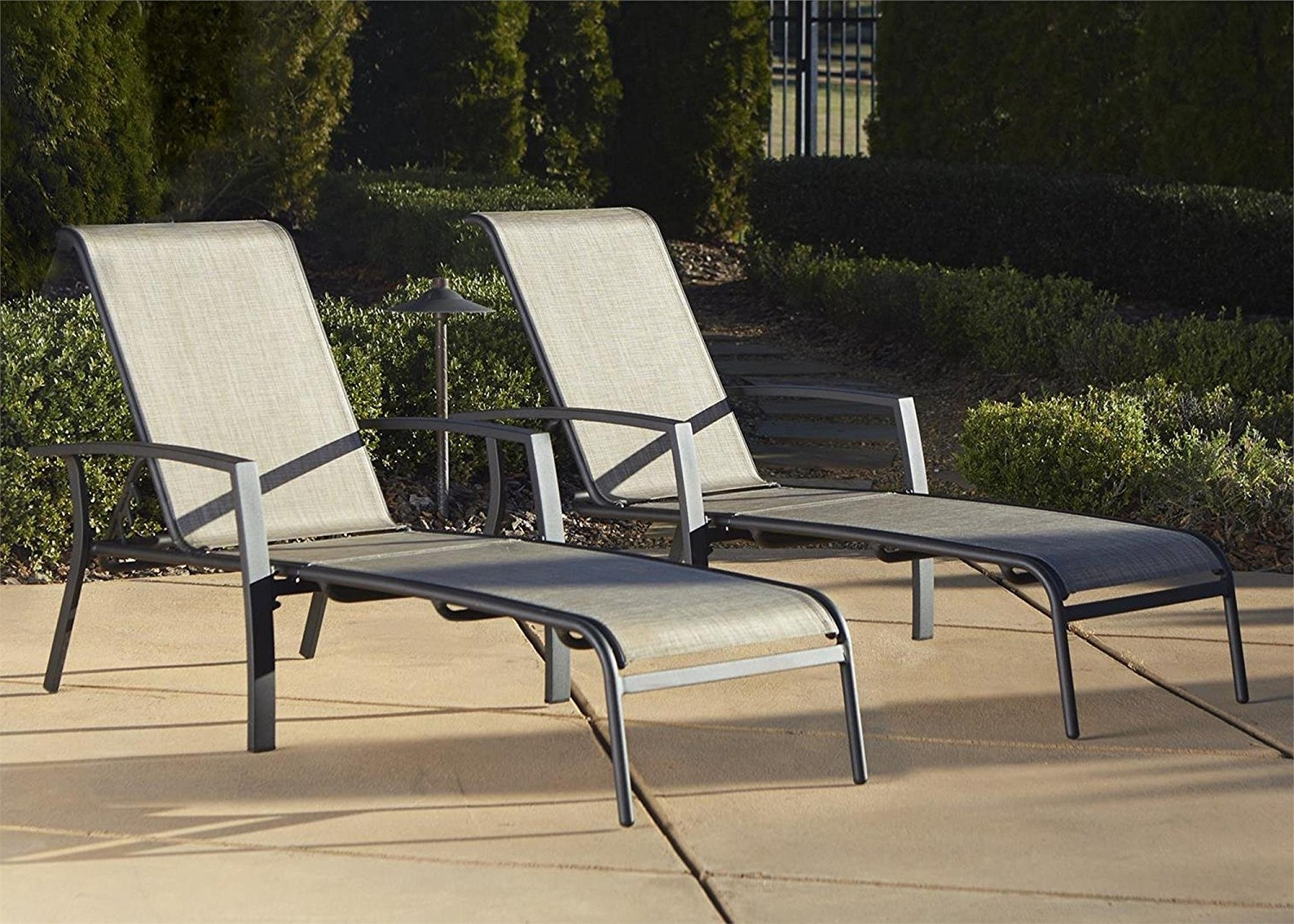 Well Known Amazon: Cosco Outdoor Adjustable Aluminum Chaise Lounge Chair For Outdoor Cast Aluminum Chaise Lounge Chairs (View 14 of 15)