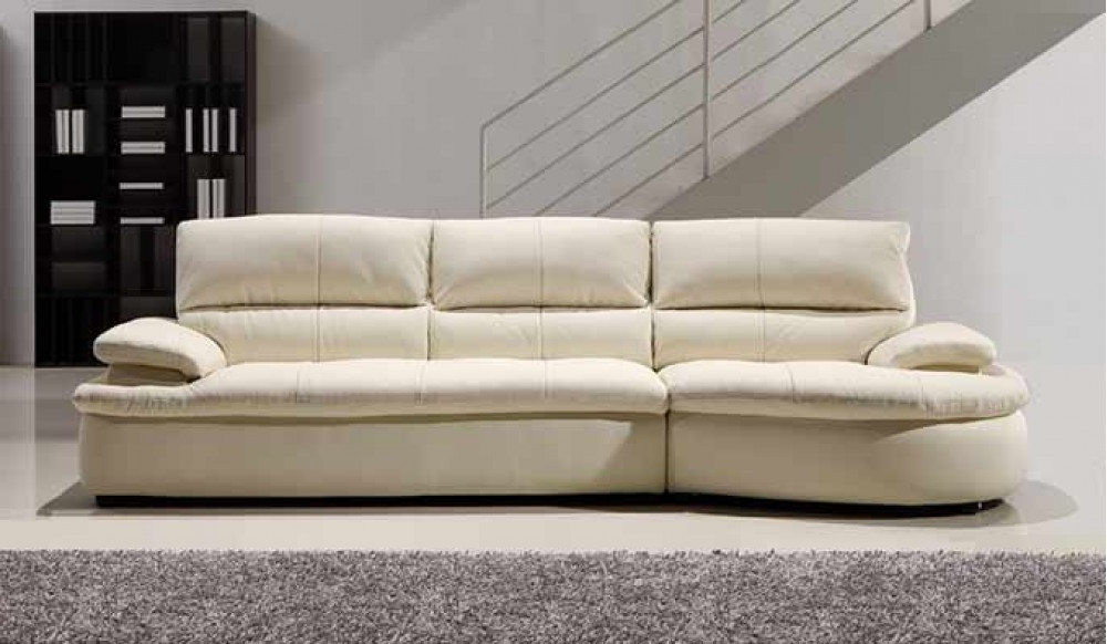 Well Known Ascoli White Leather Sofa – 4 Seater – Modern Style Delux Deco For 4 Seater Sofas (View 9 of 15)