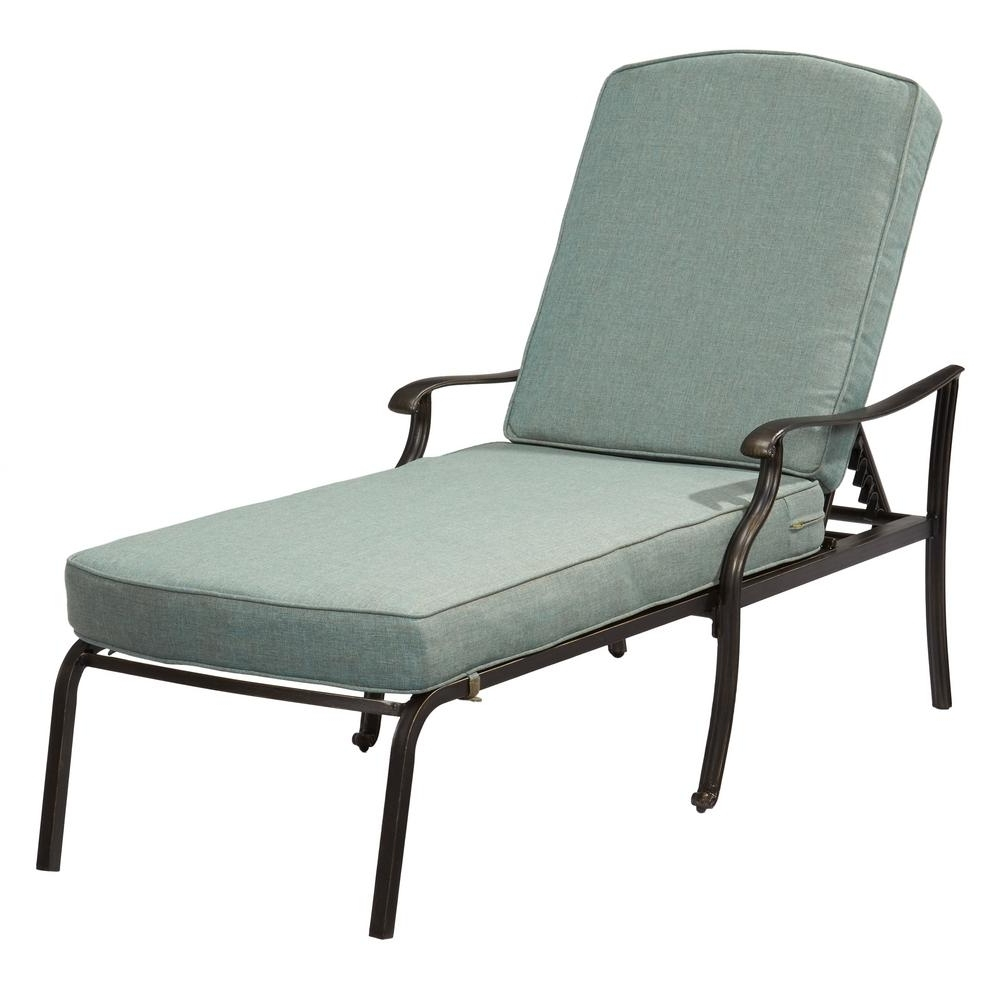 Well Known Belcourt – Outdoor Chaise Lounges – Patio Chairs – The Home Depot Pertaining To Metal Chaise Lounge Chairs (View 14 of 15)
