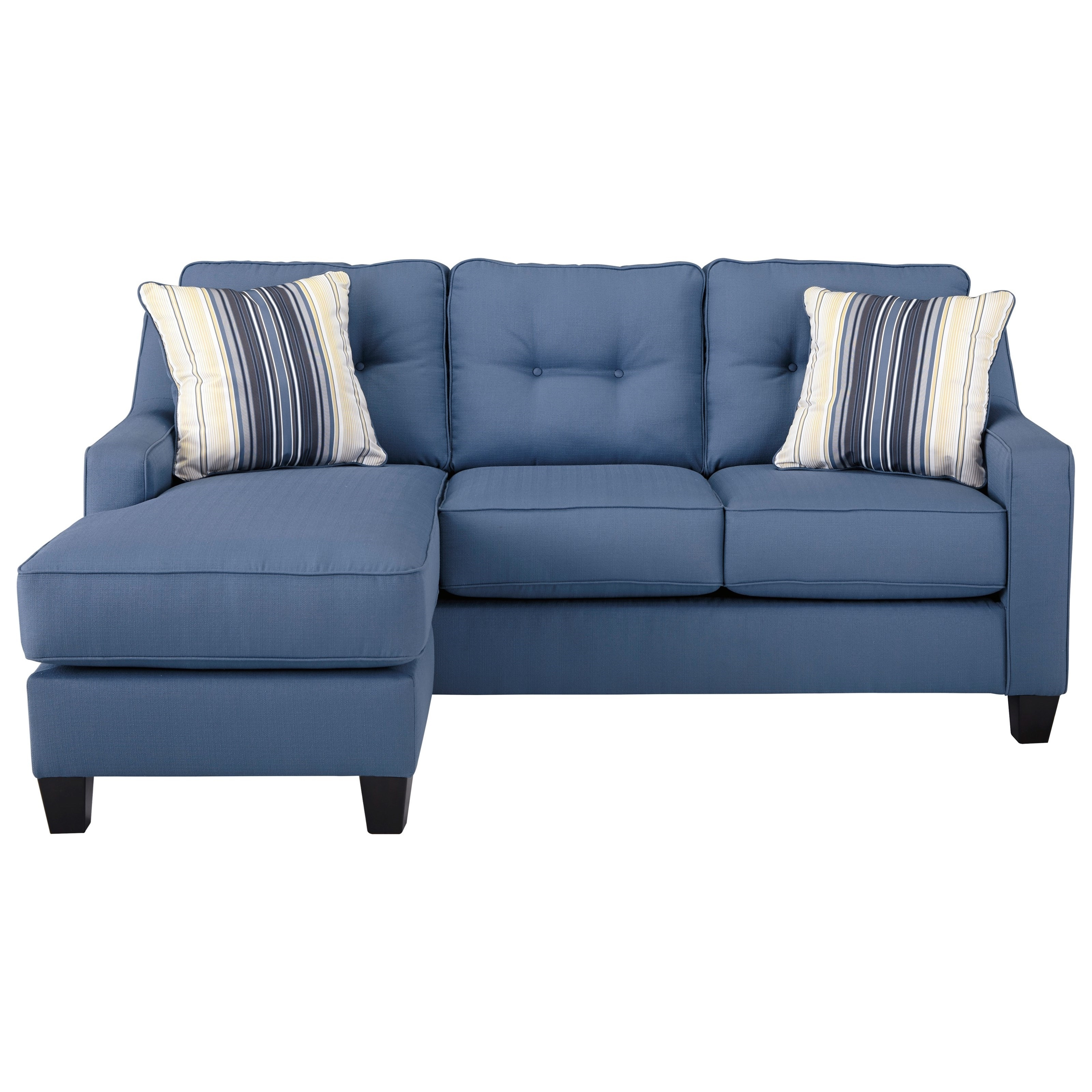 Well Known Benchcraft Aldie Nuvella Queen Sofa Chaise Sleeper In Performance Inside Sleeper Sofa Chaises (View 5 of 15)
