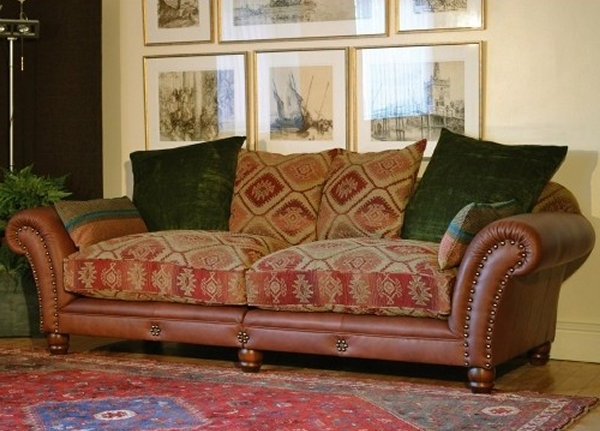 Well Known Best Fabric Leather Sofa Leather Couch On Pinterest Fabric Sofa Pertaining To Leather And Cloth Sofas (View 5 of 10)