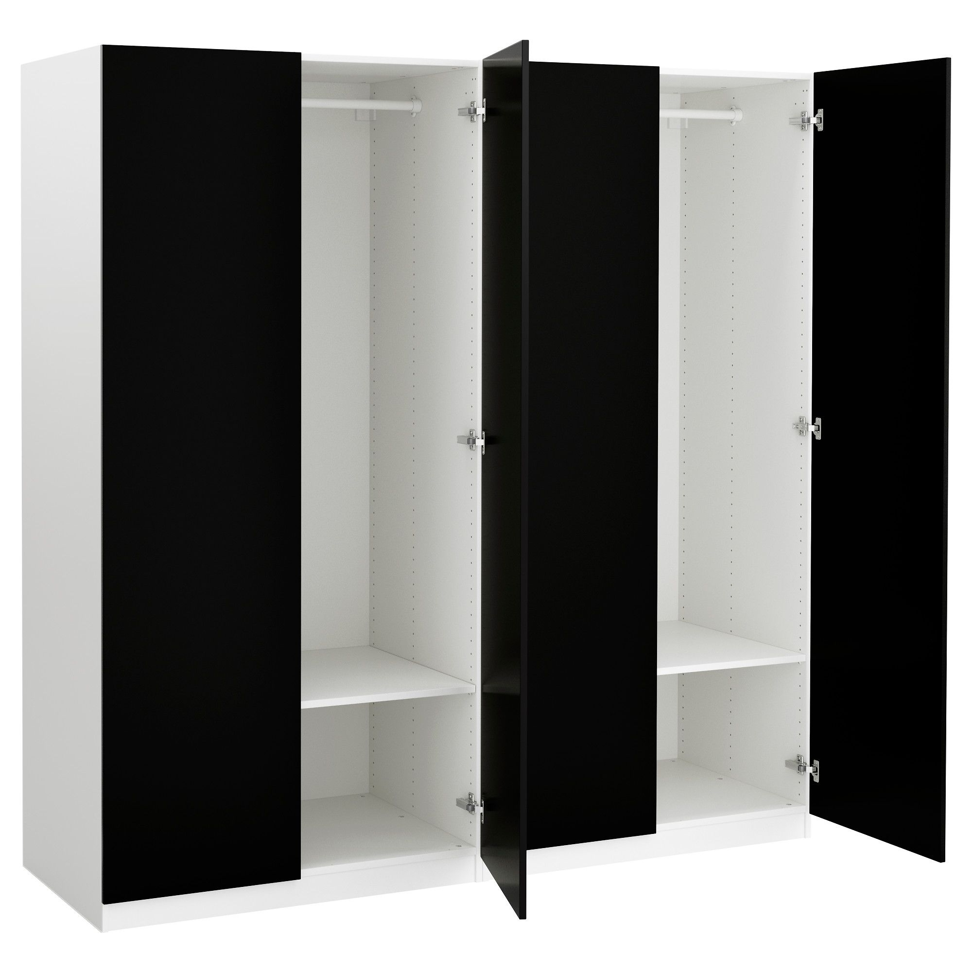 Well Known Black And White Wardrobes Set Inside Astonishing Berlin Door Corner Wardrobe Set High Gloss Black And (View 14 of 15)
