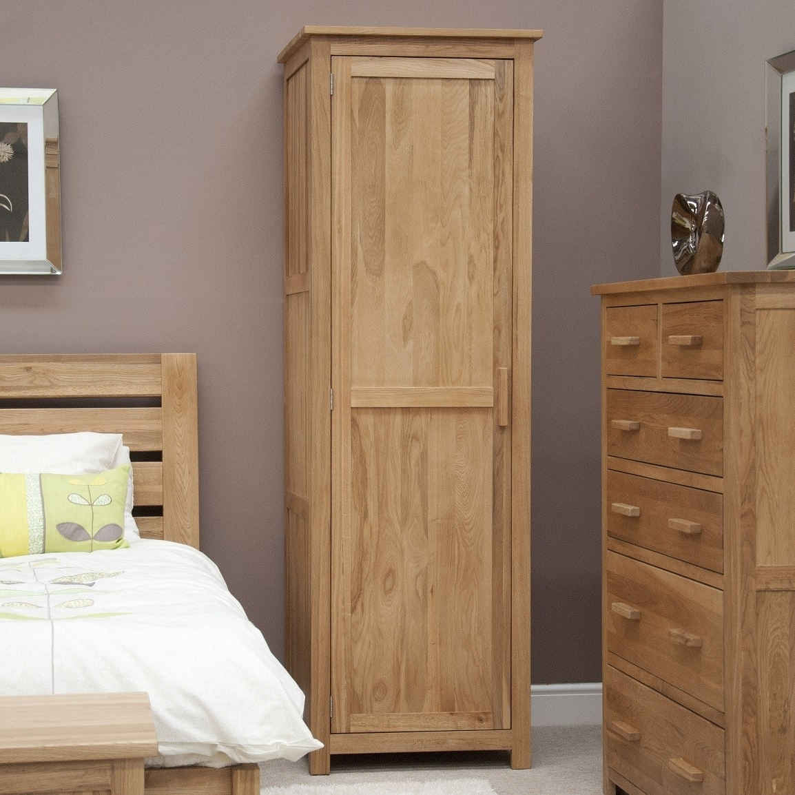 Well Known Black Single Door Wardrobe With Drawers Pine Mirrored Elegant Best Throughout Single Door Pine Wardrobes (View 6 of 15)